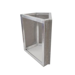 Grillnetics 45 Degree Corner Cabinet 27W X 35H Easy Outdoor Kitchen Frame Kit With Cement Board By - WBC