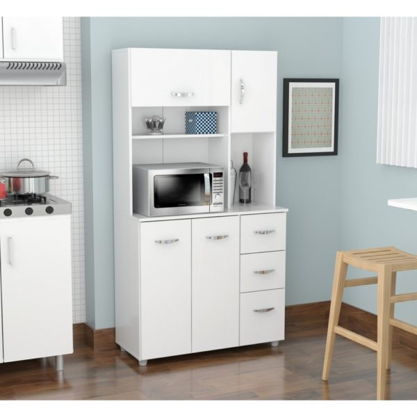 White Kitchen Storage Cabinet (Laricina-white)