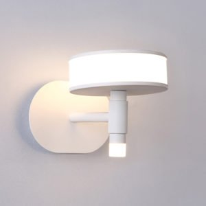 """White Mushroom Led Wall Light 9.05"""" Wide 10W High Bright Metal LED Wall Sconce with Acrylic Lens for Bedroom Hallway Cabinet Kitchen"""