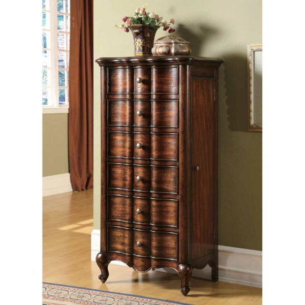 Hooker Furniture French Jewelry Armoire, 24 in. W x 17 in. D x 49 in. H