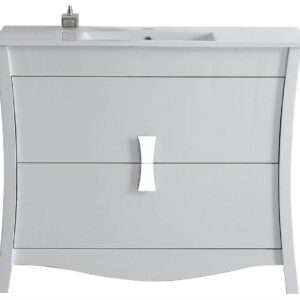 48 in. Modern Vanity Set in White and Chrome