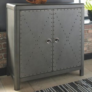 Signature Design by Ashley Rock Ridge Accent Cabinet, One Size , Gray